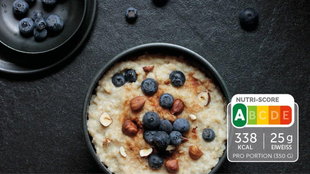 Image of Porridge mit Blaubeeren