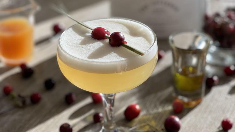 Image of Tequila Cider Olive Oil Cocktail