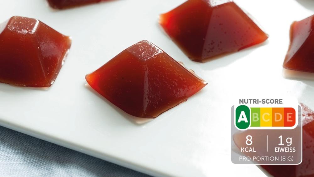 Image of Selbstgemachter Fruchtgummi mit Cranberry-Geschmack