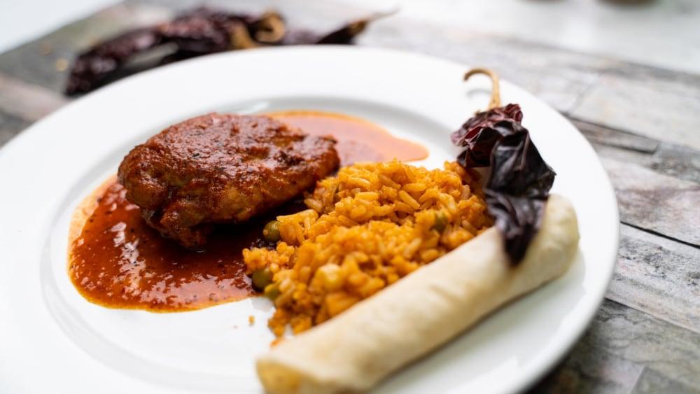 Image of Chicken in Guajillo Salsa Recipe