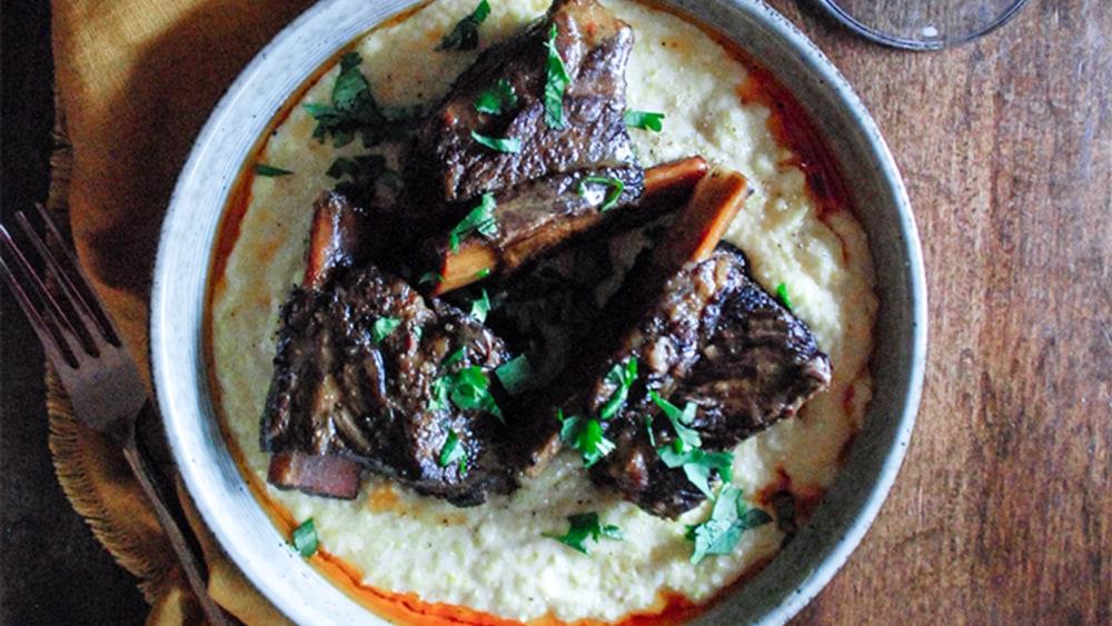 Image of Garlic Chili Braised Beef Short Ribs
