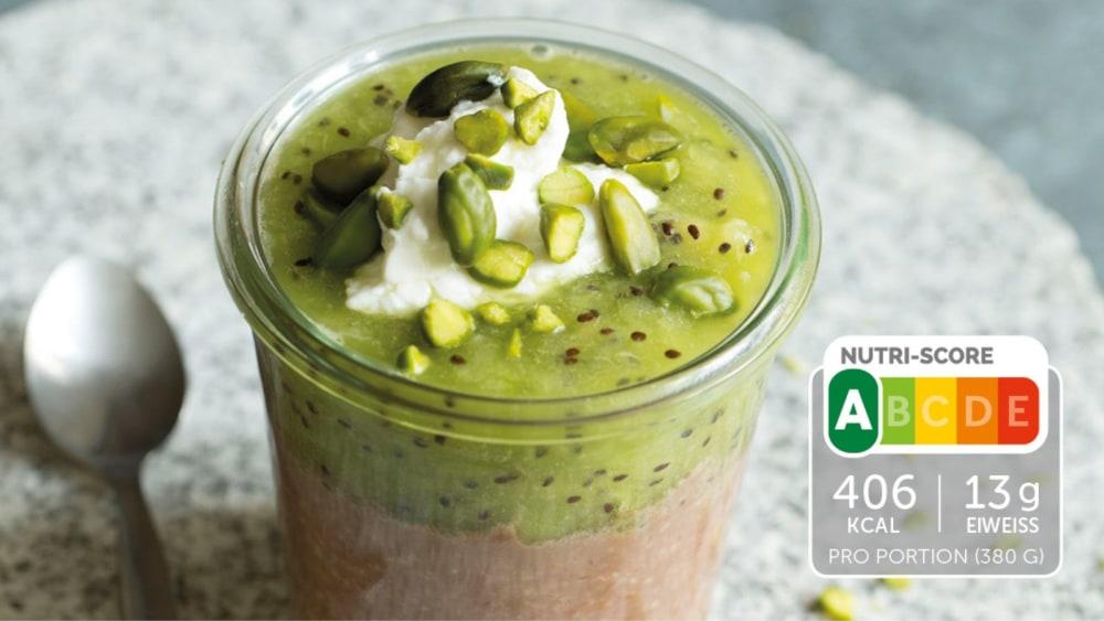 Image of Schoko Porridge mit Kiwi