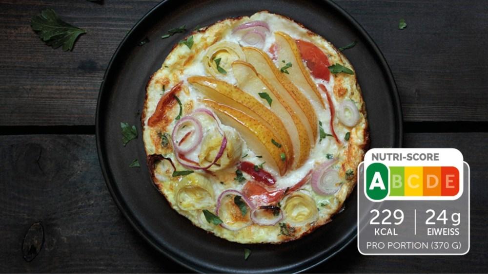 Image of Mediterranes Omelette mit Serranoschinken und Birne