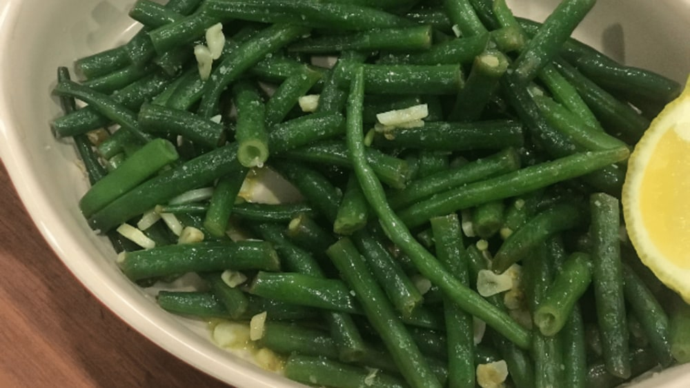 Image of Green Beans with garlic and lemon