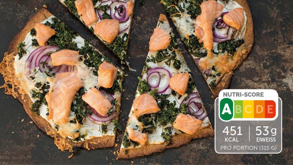 Image of Eiweiß-Pizza mit Lachs