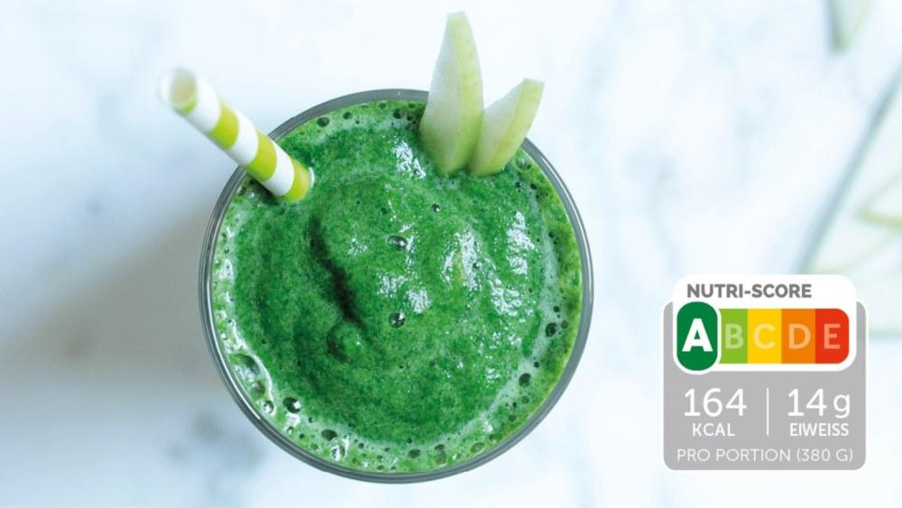 Image of Eiweiß-Shake mit Apfel und Spinat