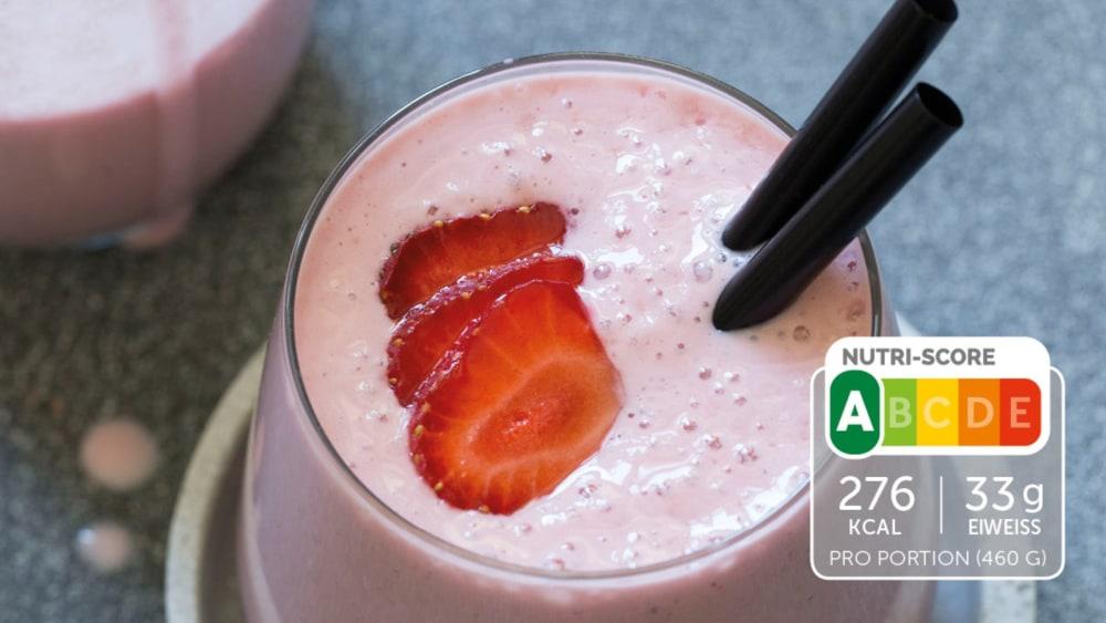 Image of Eiweiß-Shake mit Erdbeeren