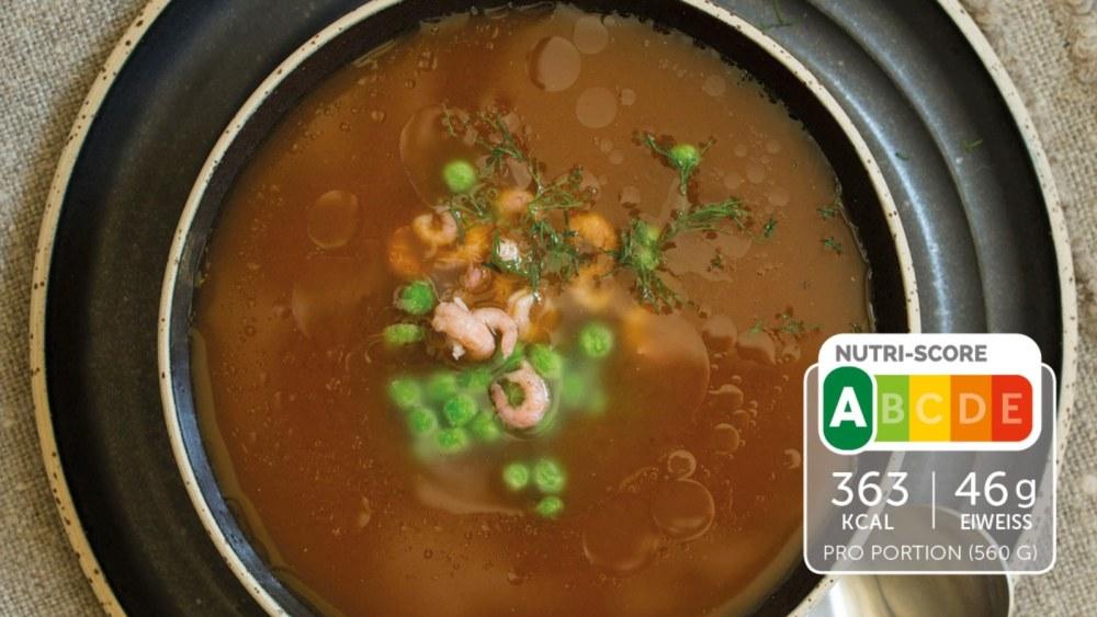 Image of Würzige Suppe mit Krabben