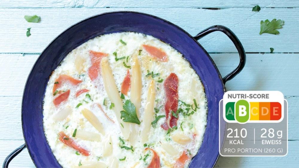 Image of Mediterranes Omelette mit Serranoschinken und Spargel