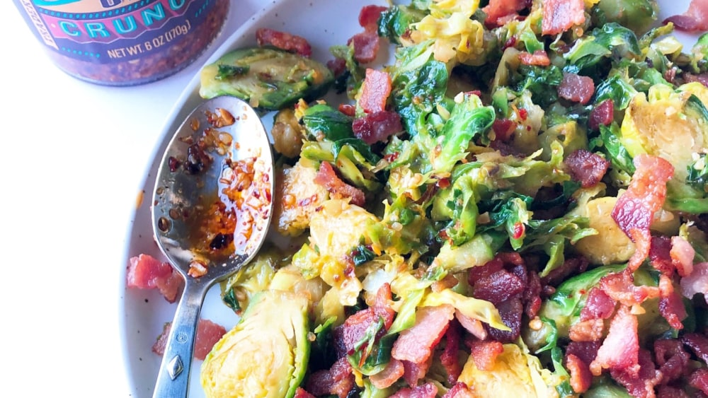 Image ofChili Onion Crunch Brussels Sprouts