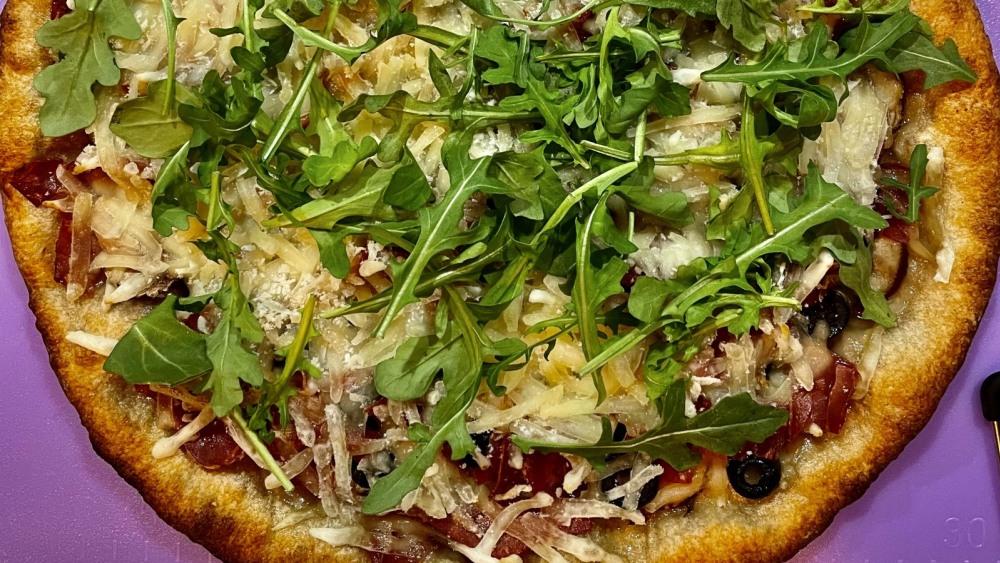 Image of White Truffle Pizza with Mango Balsamic