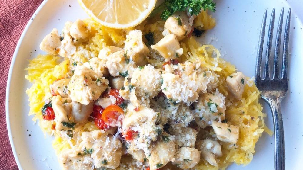 Image ofChicken Scampi with Spaghetti Squash