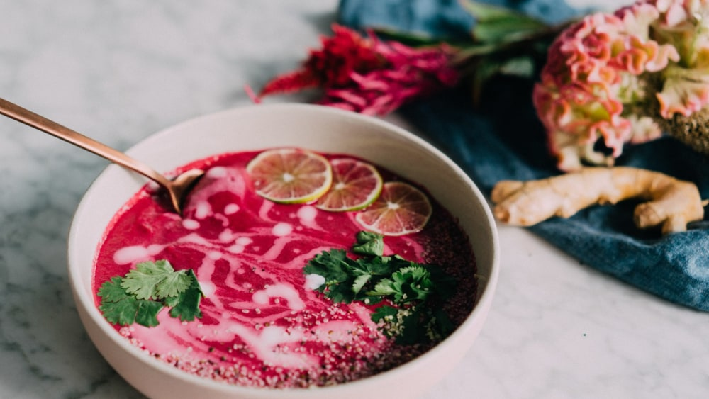 Image of Creamy Dairy-Free Beet Soup