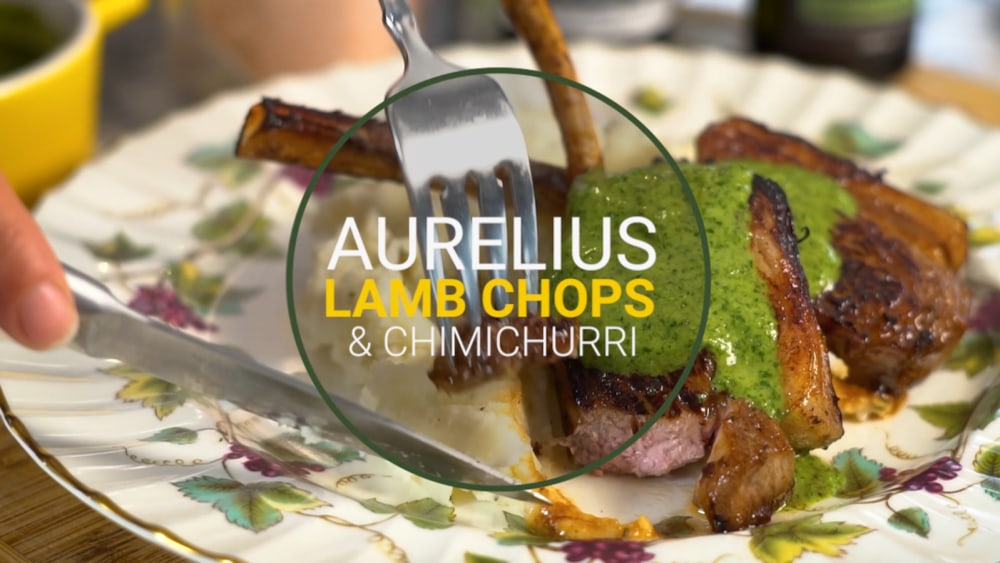 Image of Aurelius Lamb Chops & Green Chimichurri