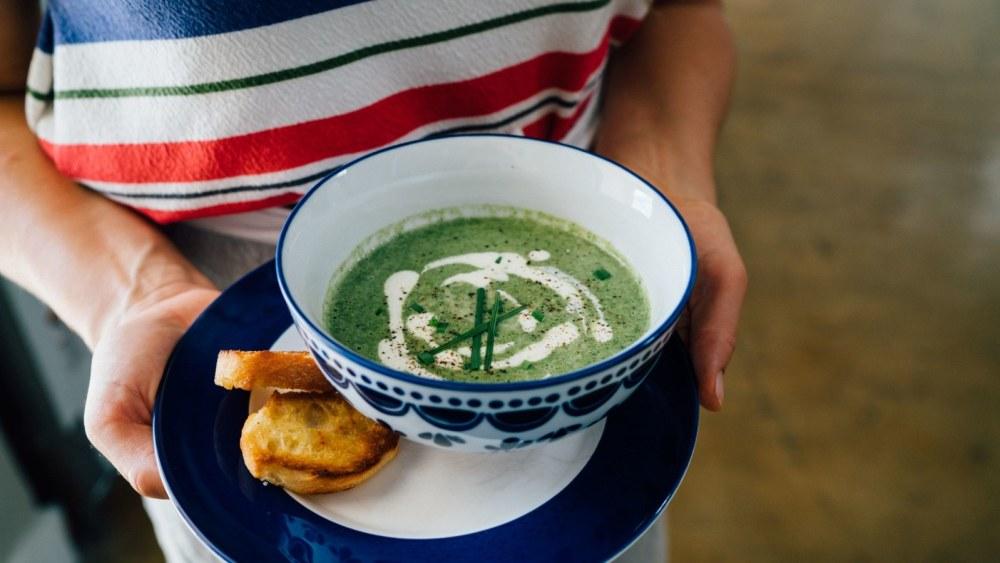 Image of Creamy Spinach & Artichoke Soup