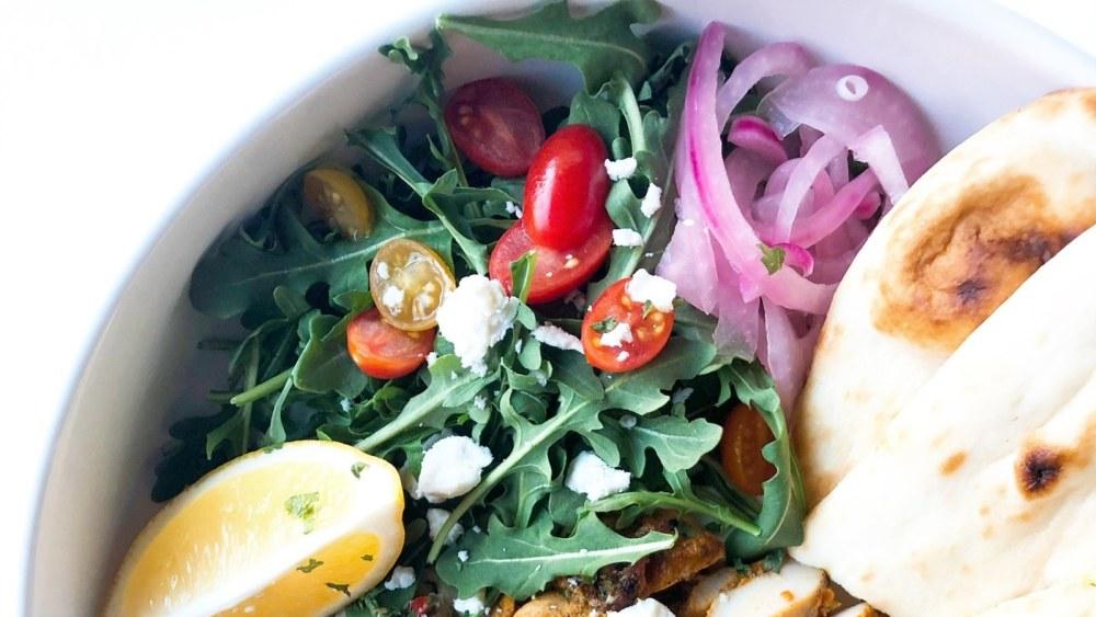Image of Chicken Shawarma Hummus Bowls