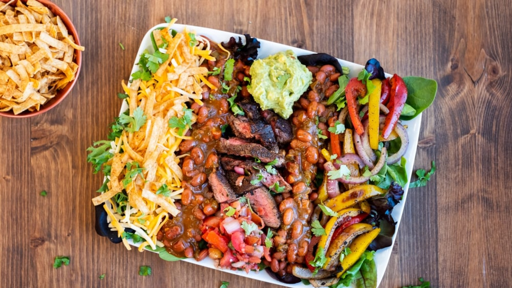 Image of Jalapeño Bacon Bean Fajita Salad
