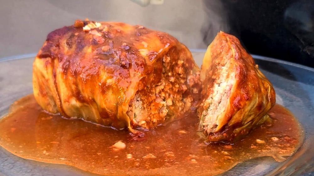 Image of Stuffed Cabbage in Hot Chili Sauce