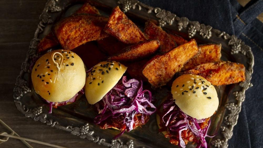Image of Mini-burgers de Jackfruit effiloché