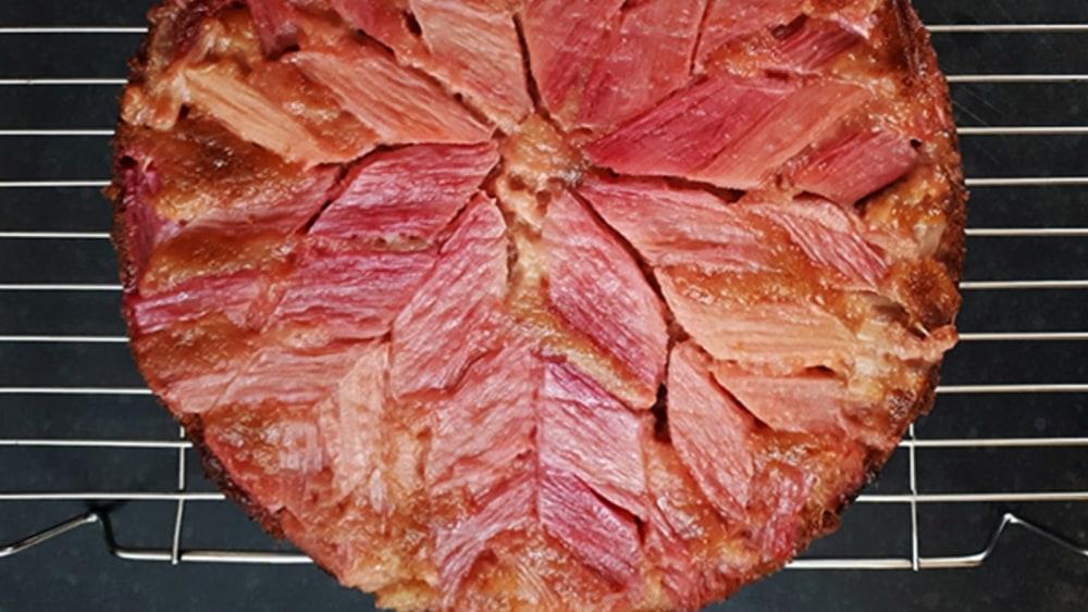 Image of Rhubarb Upside-Down Cake