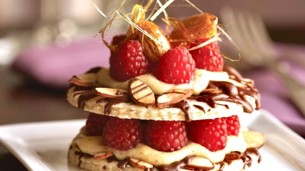 Image of Almond Raspberry Tart with Almond Cream