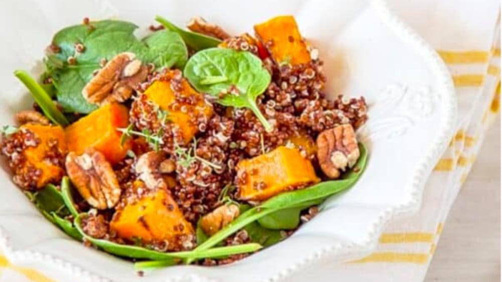 Image ofRoast Pumpkin, Spinach and Quinoa Salad