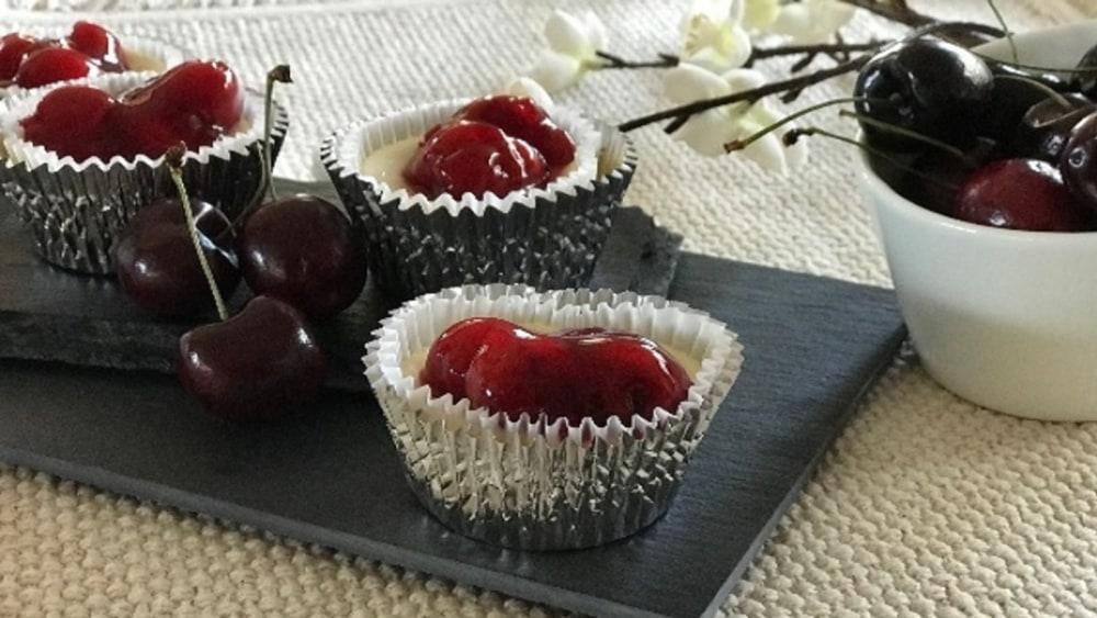 Image of Mini Cherry Cheesecakes