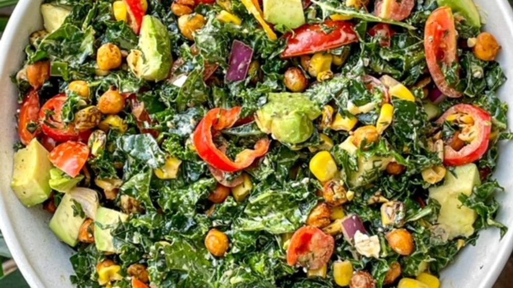 Image ofElote Kale Salad