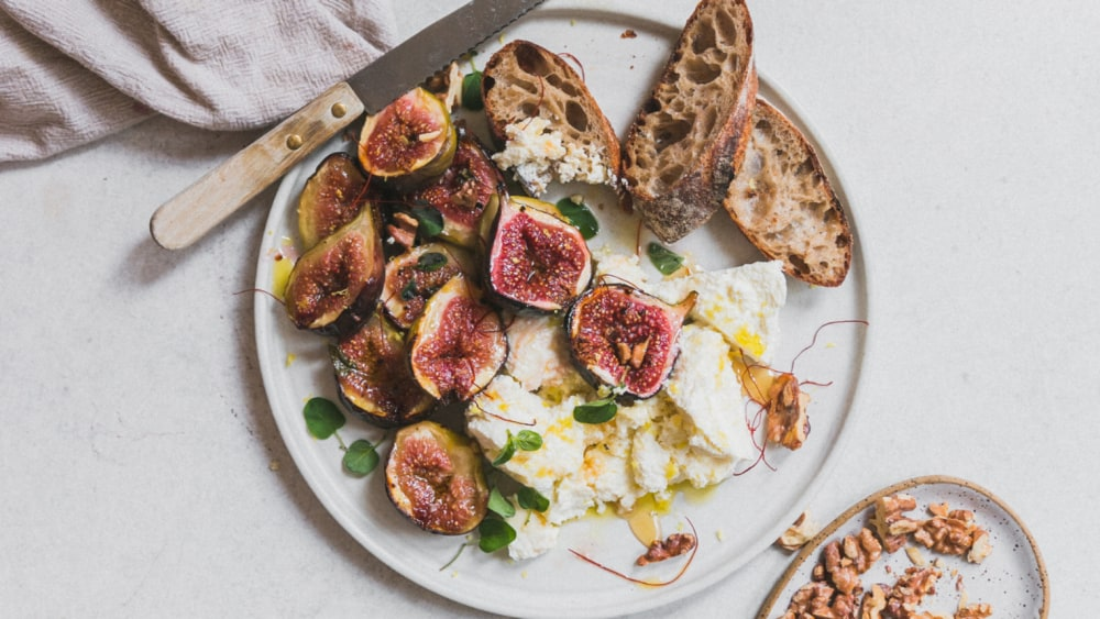 Image ofHoney Caramelised Figs with Ricotta, Lemon and Chilli