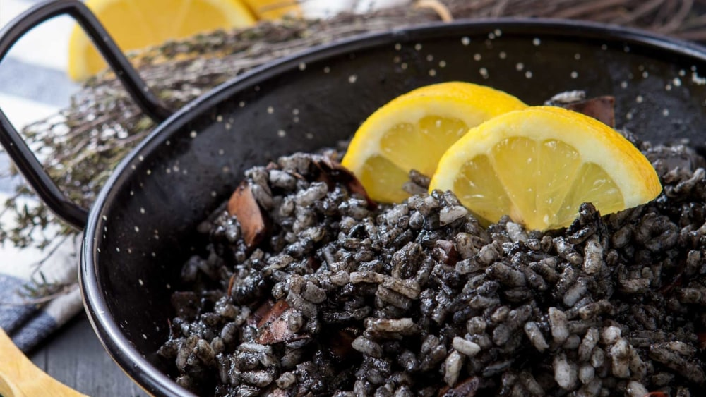 Image of Black Risotto with Lemon
