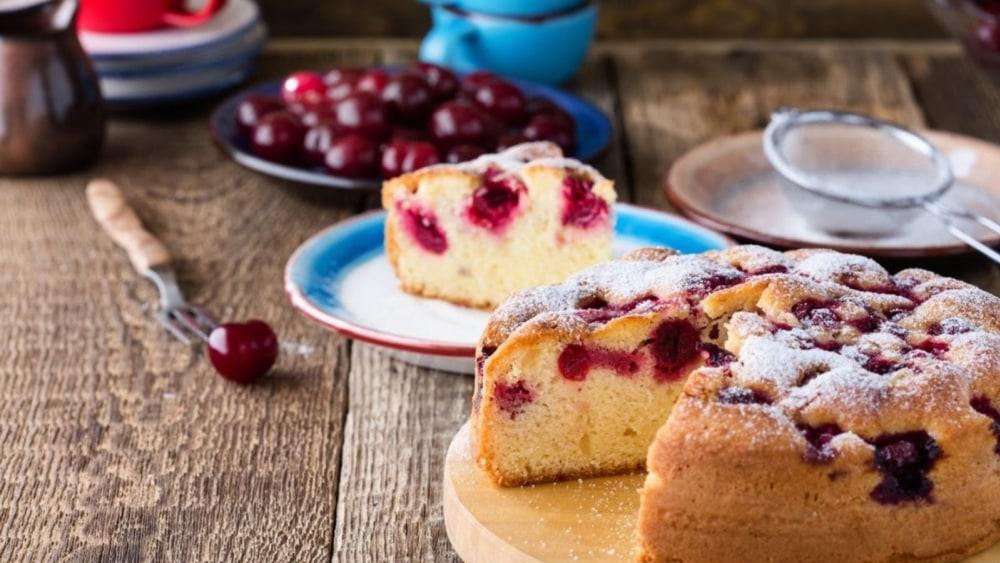 Image of Cherry Almond Cake