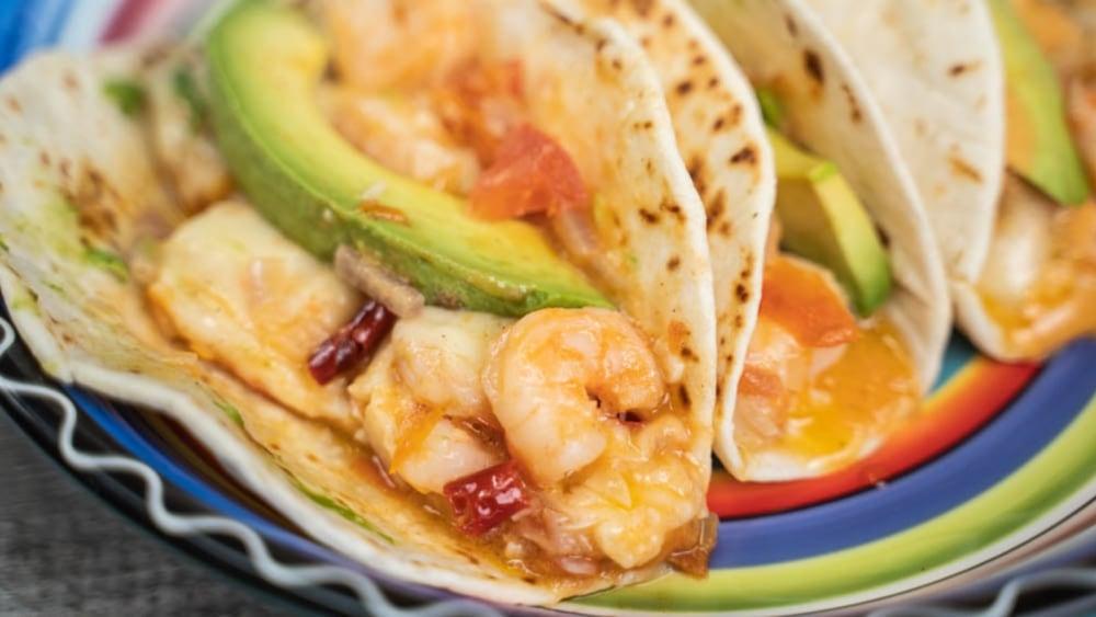 Image ofCheesy Shrimp Tacos