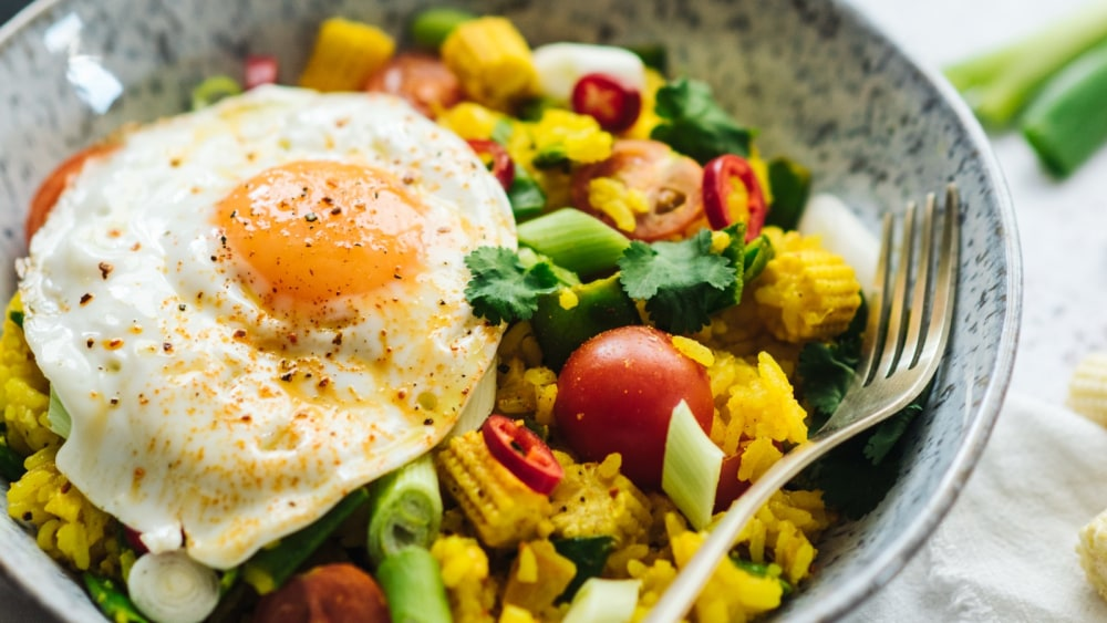 Image of Turmeric Fried Rice And Eggs