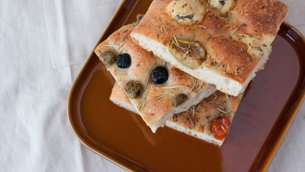 Image of Rosemary, Olive and Sundried Tomato Focaccia