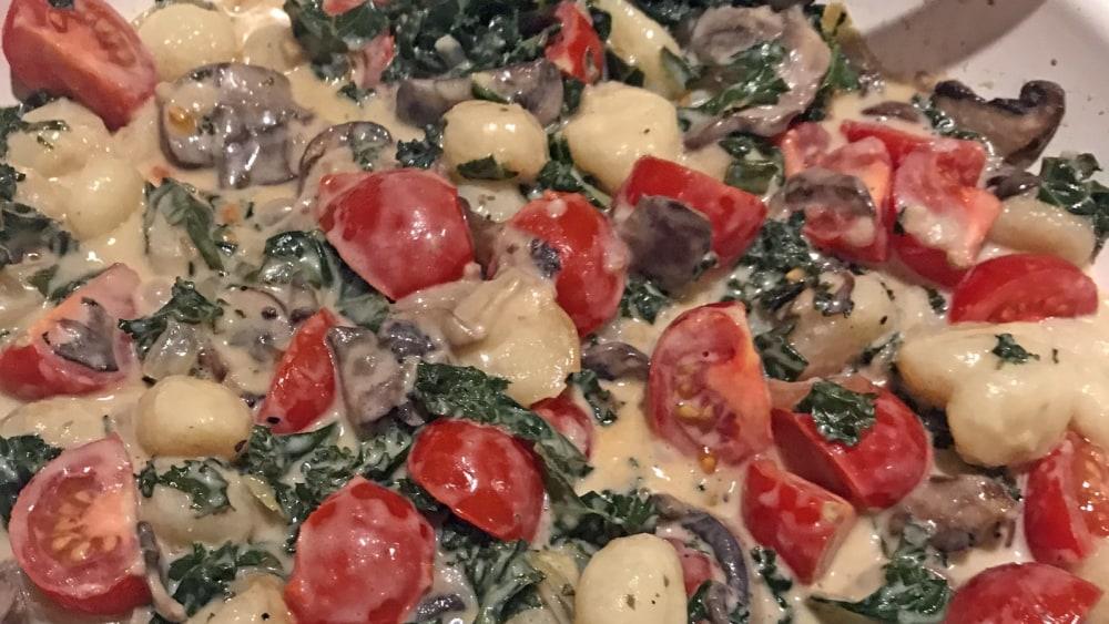 Image ofCreamy Mushroom & Kale Gnocchi