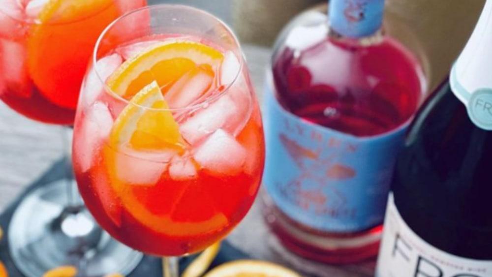 Image of Non-Alcoholic Aperol Spritz Recipe with Lyre's Italian Spritz