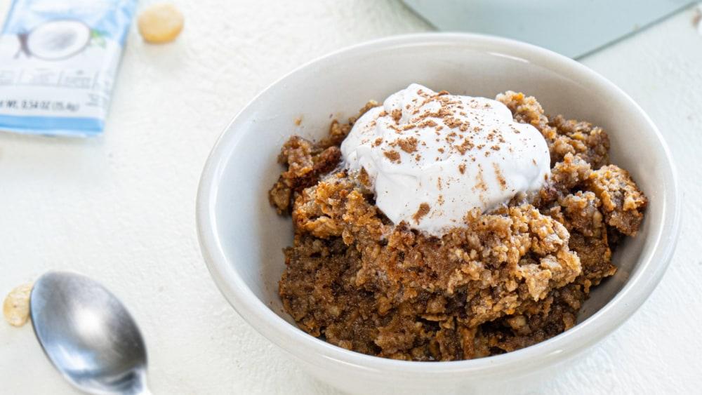 Image of Baked Noatmeal Mocha Latte (TikTok Recipe)