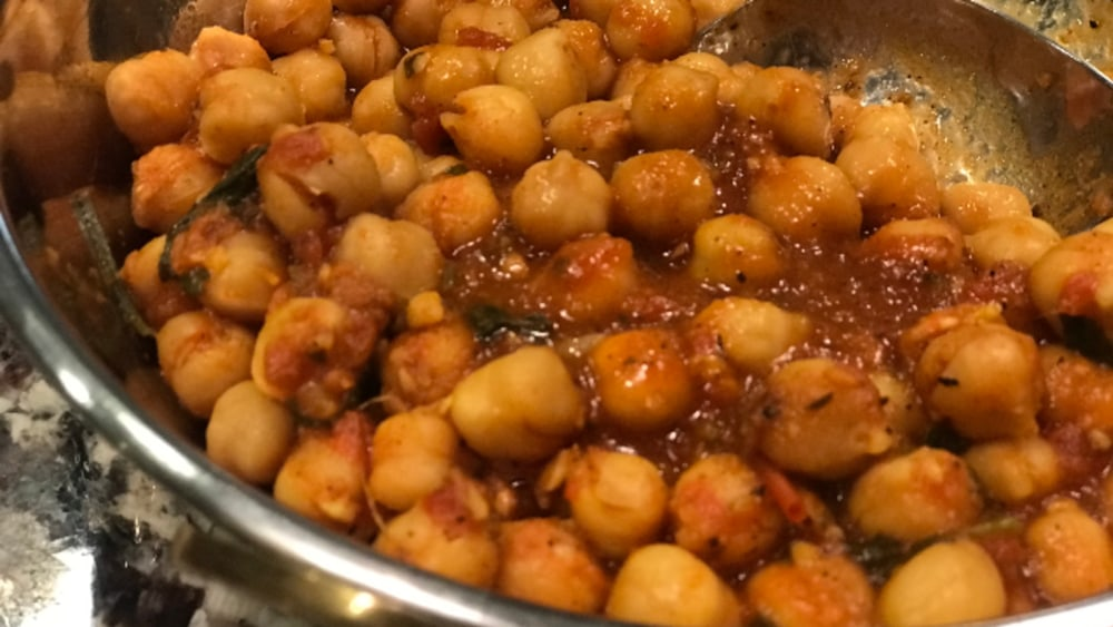 Image of Chickpeas with Tomato Curry