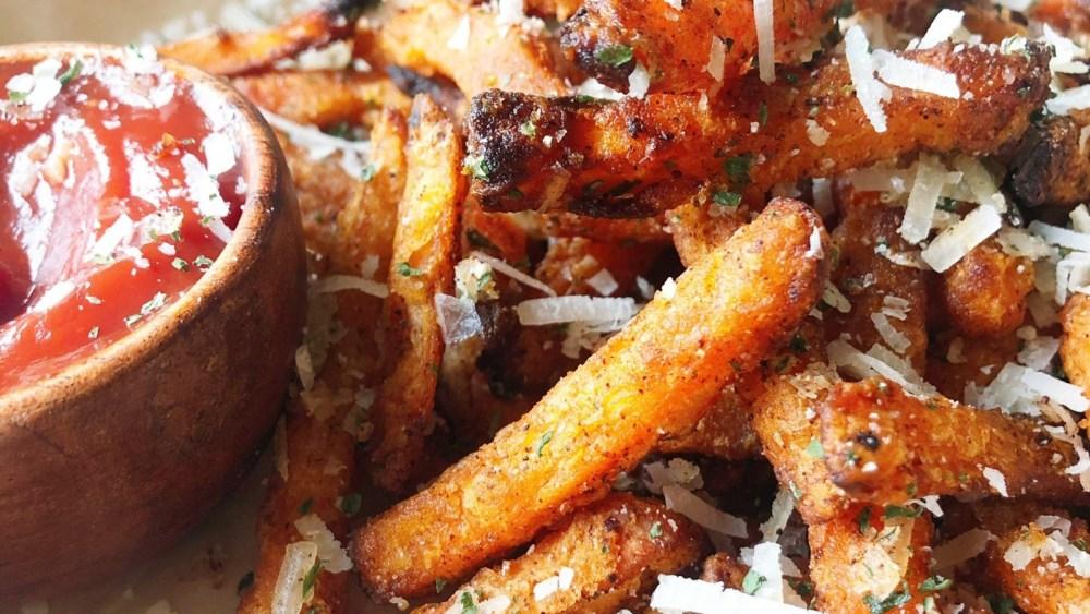 Image ofGarlic Parmesan Sweet Potato Fries