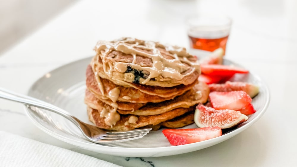 Image of The BEST Blueberry Plant Protein Pancakes