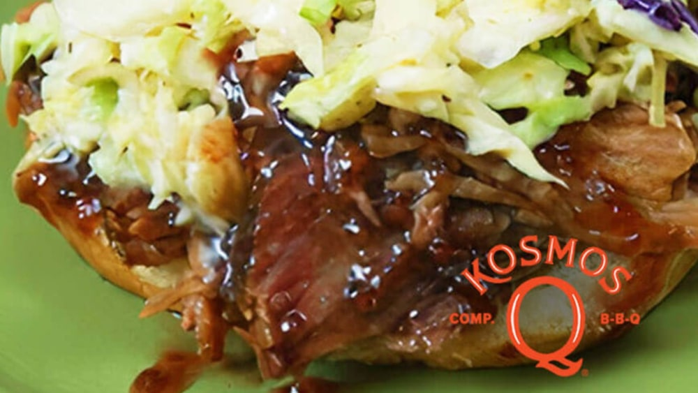 Image of Kosmo's Sweet & Spicy Pulled Pork Sandwich
