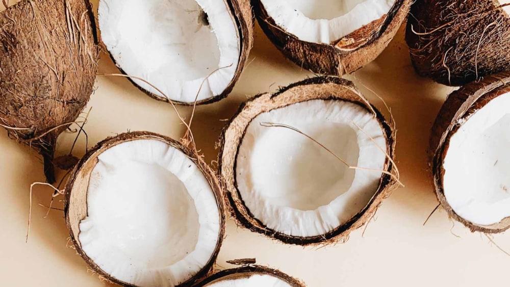 Image of Coconut Sorbet with Condensed Coconut Milk