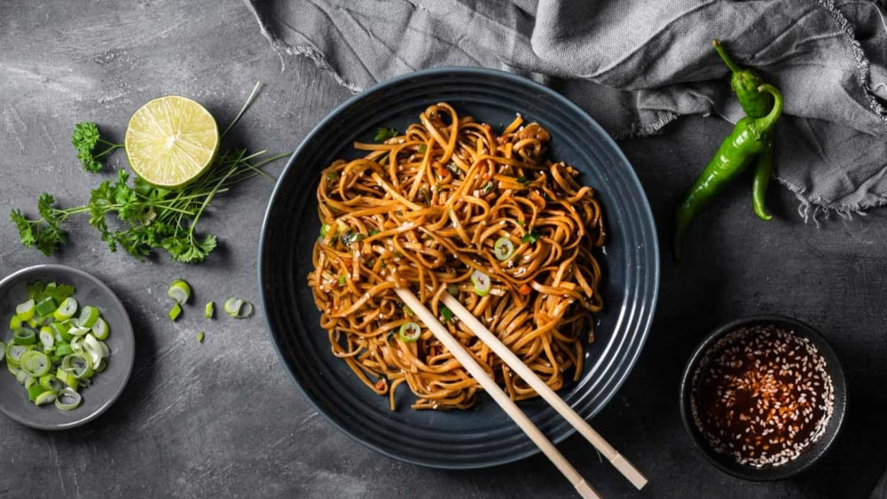 Image of Stir Fried Vegetable Yakiudon Noodles