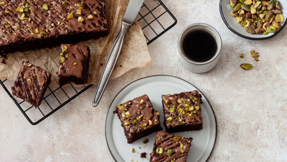 Image of Nocciolata Brownies with Pistachios