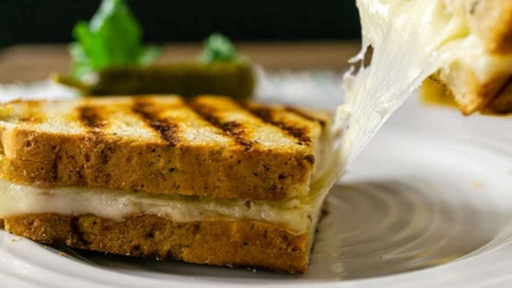 Image of Healthy Grilled Cheese Sandwiches (Cauliflower Cheese Recipe)