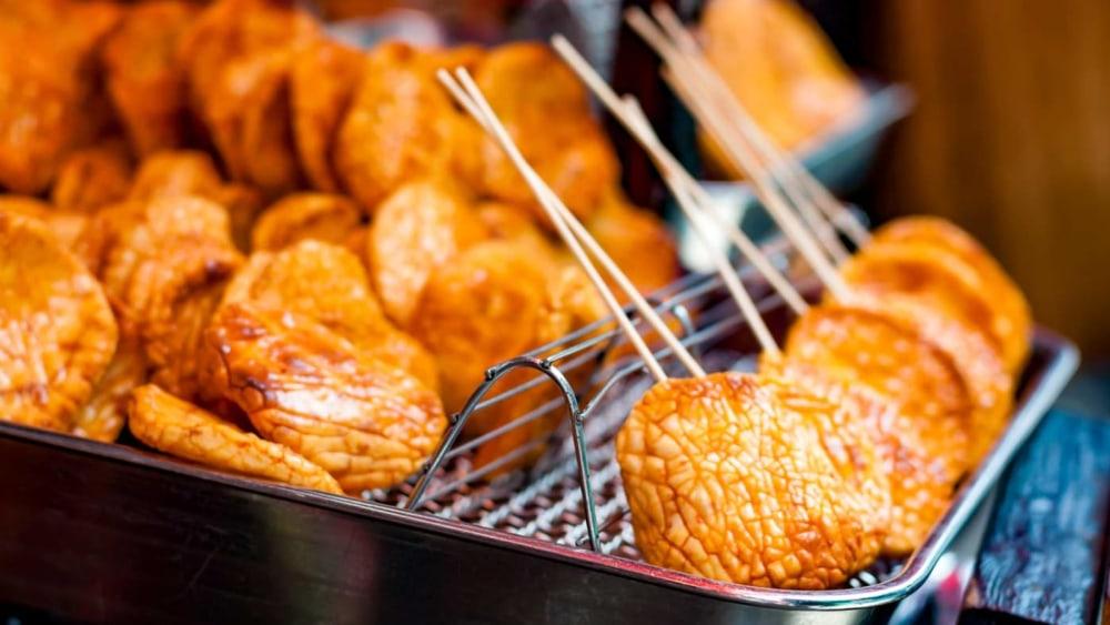 Image of Rice Crackers with Edmond Fallot Basil Mustard