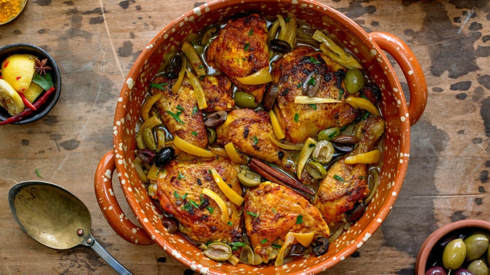 Image of Chicken Tagine with Olives and Lemon: A Moroccan Recipe