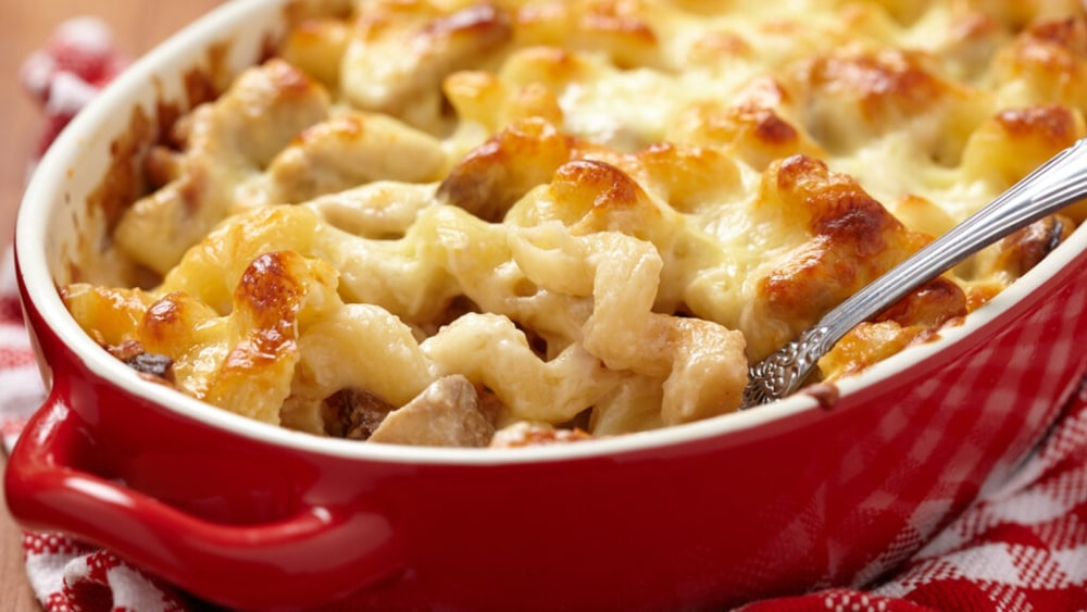 Image of Creamy Chicken Pasta Casserole Recipe: A Simple Way to Use Up Leftovers