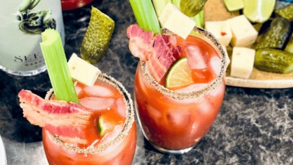 Image of Seedlip Garden 108 Non-Alcoholic Virgin Bloody Mary Recipe