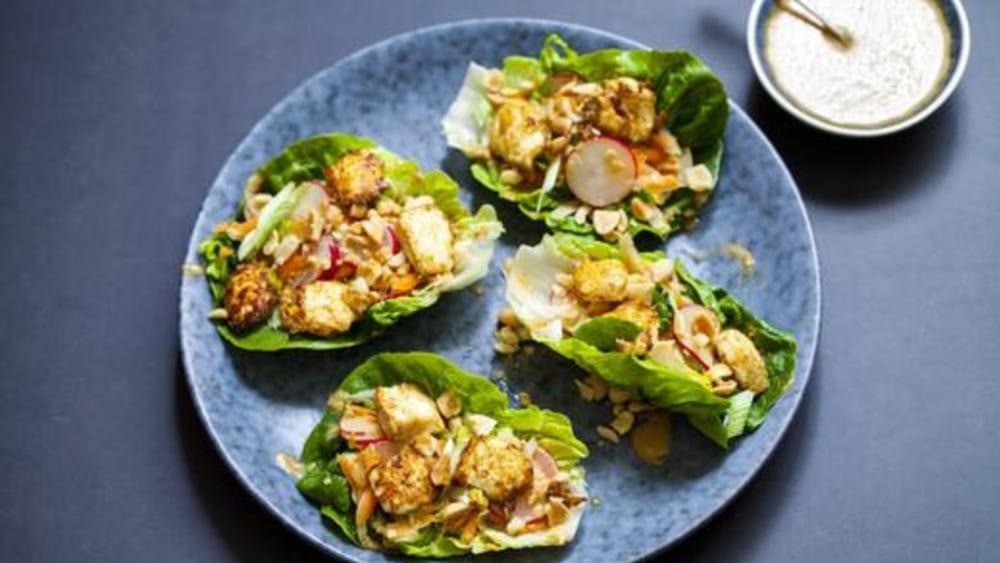 Image of Tofu Lettuce Wraps: A Healthy, Low-Calorie Recipe